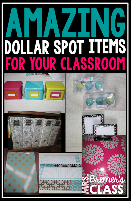 A post about AMAZING Dollar Spot items to use in the classroom!