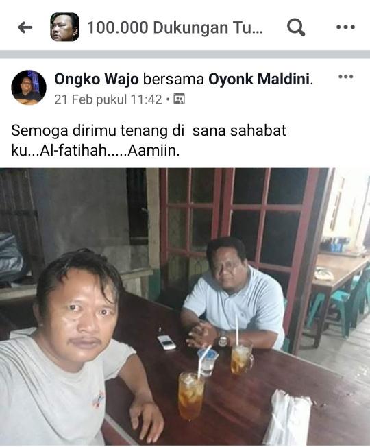 Oyong Maldini Wafat, Postingan Ongko Wajo Beberapa Hari Lalu Menjadi Kenyataan