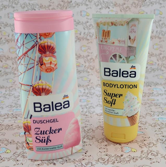Balea Rummelplatz LE Duschgel Zucker Süß und Bodylotion Super Soft