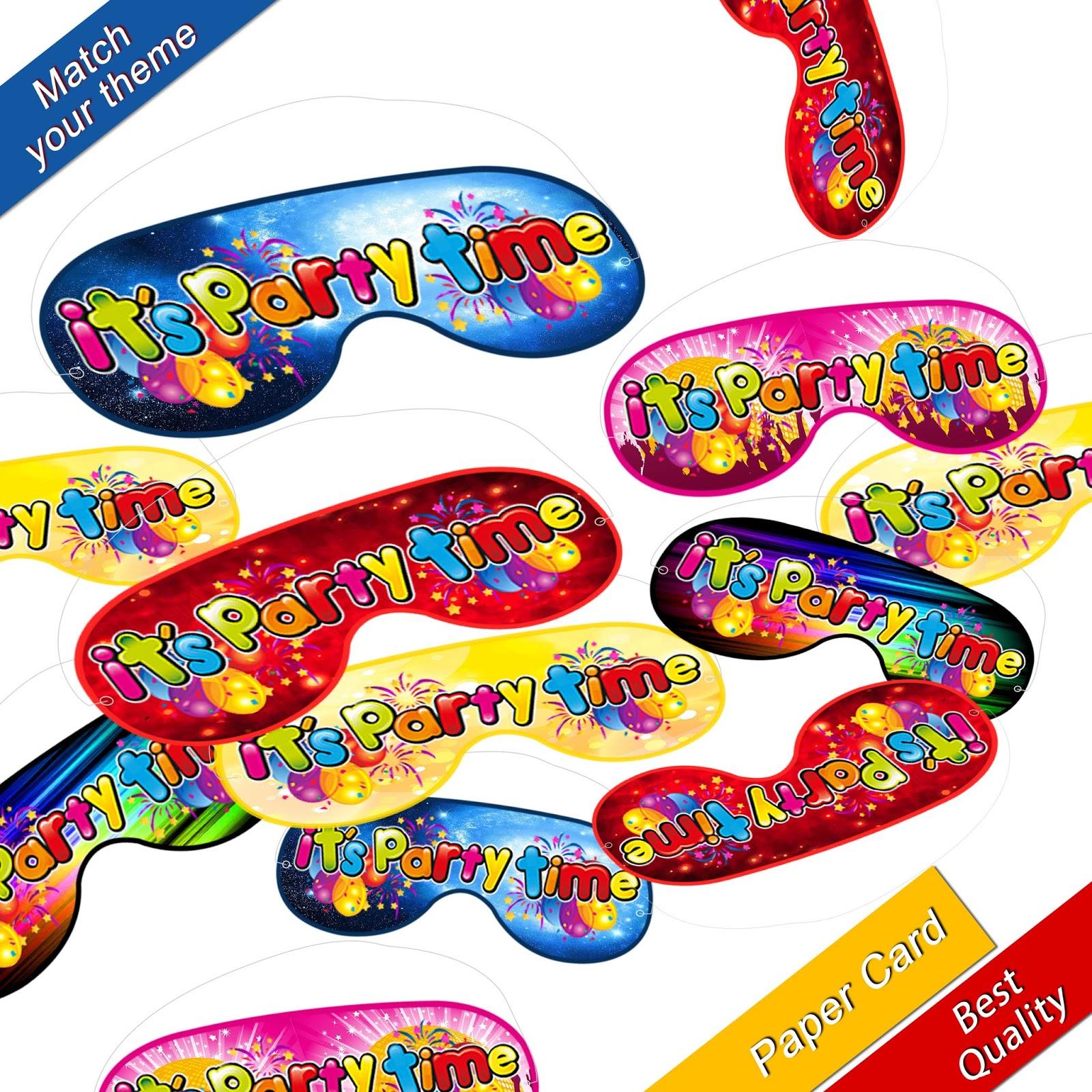 Pinata Buster Stick Blindfold Smash Party hitting bat mask boy bash pink blue UK