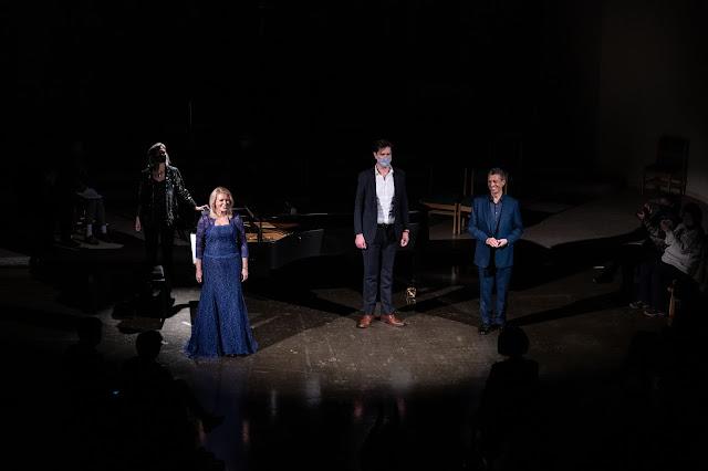 Susie Allan, Kathryn Rudge, Edward Hawkins, Roderick Williams at Spotlight Chamber Concerts in December 2020 St John's Waterloo (Photo Matthew Johnson)