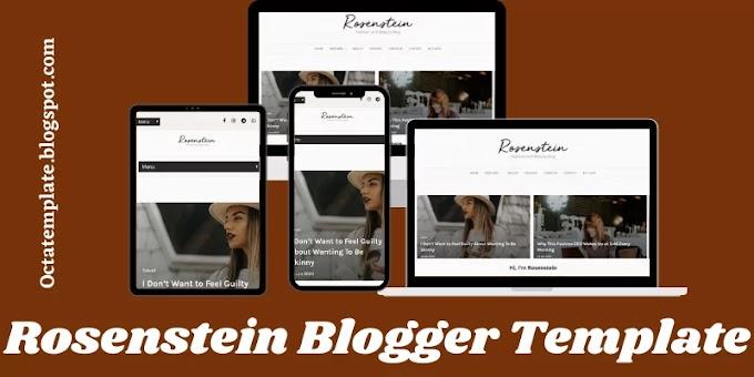 Rosenstein Blogger Template   Fashion Blogger Template