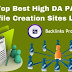 Top 750+ Best High DA PA Profile Creation Site List 2020