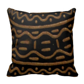 Black and brown bold print throw pillow