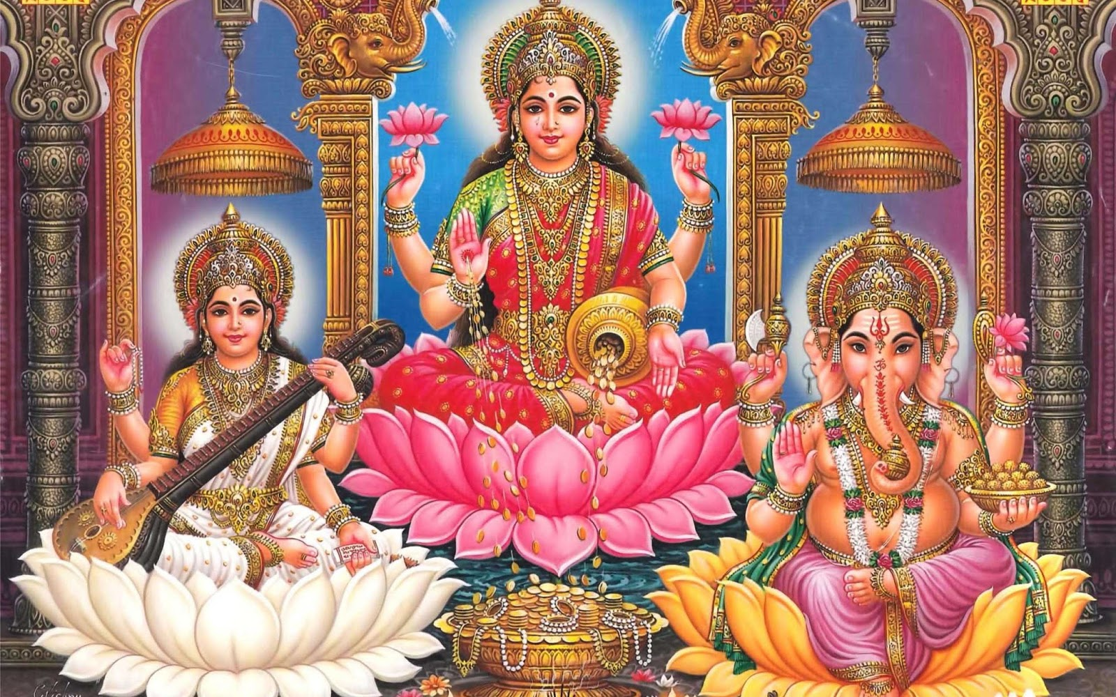 3d Wallpaper For Home Wall India All God Stuff Happy Diwali Laxmi Ganesh Wallpaper 2015