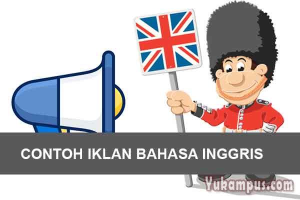 Contoh Iklan Pendidikan Dalam Bahasa Inggris Beserta Artinya