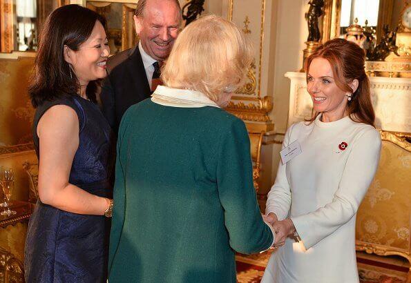 Winners, Veronica Shen, Catherine Wang, Elise Jensen and Nnemdi Ozoemena. Duchess of Cornwall met with Author Geri Horner
