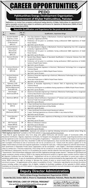 pakhtunkhwa-energy-development-organization-  pedo-jobs-2020-application-form