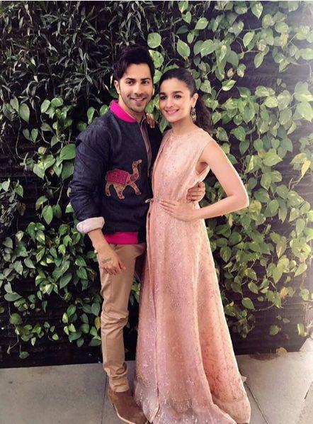 Alia Bhatt wear Empire Waist Dresses with varun dhawan