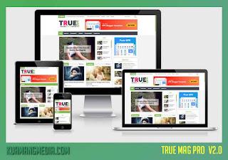 Template Blogger Majalah True Mag v2.0