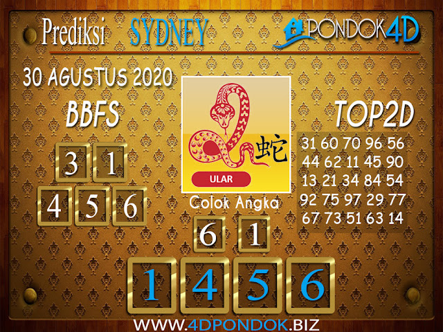 Prediksi Togel SYDNEY PONDOK4D 30 AGUSTUS 2020