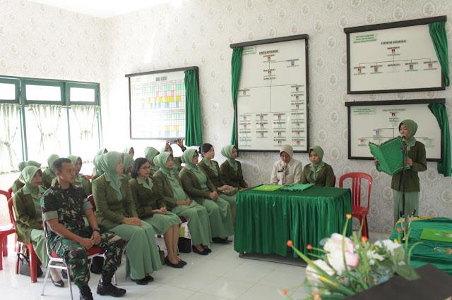 Ny.Jayadi Resmi Jabat Wakil Ketua Persit KCK Ranting 4 Yonif PR 433