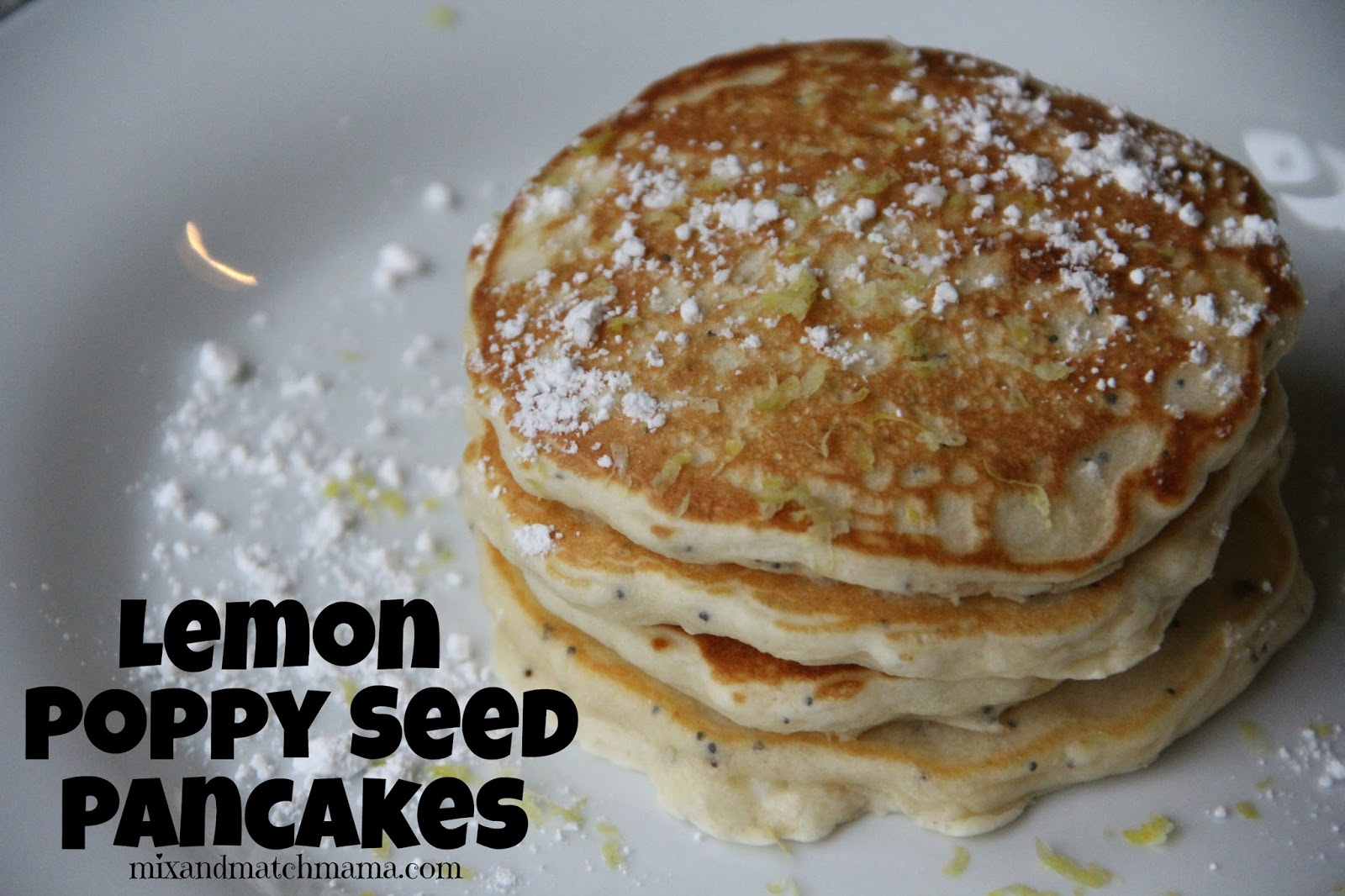poppy seed pancakes yogurt pancake recipe two peas their lemon poppy ...