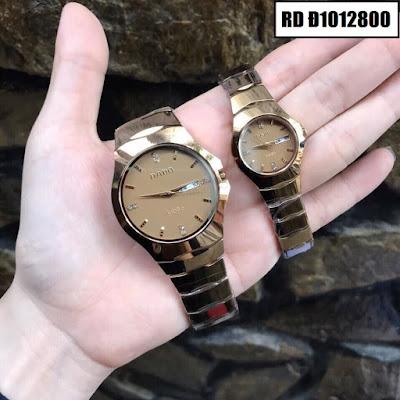 Đồng hồ cặp đôi Rado mặt tròn RD Đ1012800