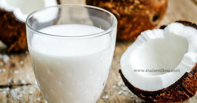 como fazer hidratação caseira com leite de coco