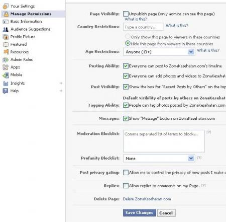 Delete Fans Page Facebook