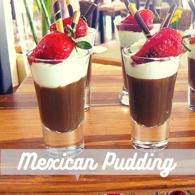 Mexican chocolate pudding parfait