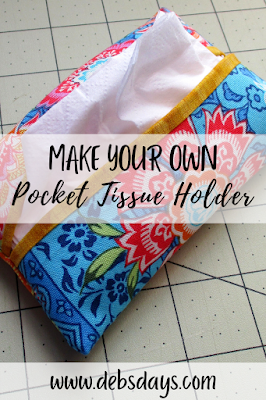 Homemade decorative pocket tissue holder from fabric