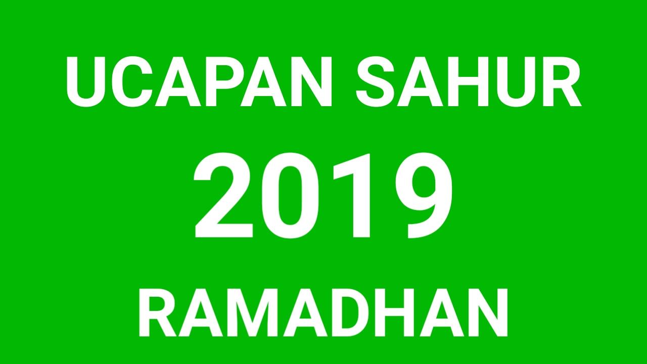 Ucapan Pantun Sahur Ramadhan Terbaru 2019