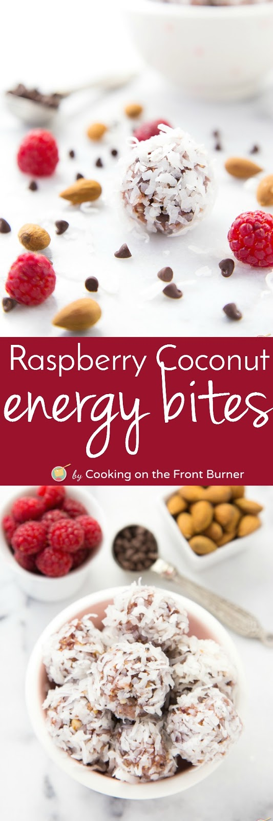 Time for a pick me up with these Raspberry Coconut Energy Bites!