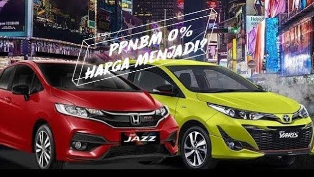 Harga Toyota Yaris Dan Honda Jazz Setelah PPnBM nol Persen