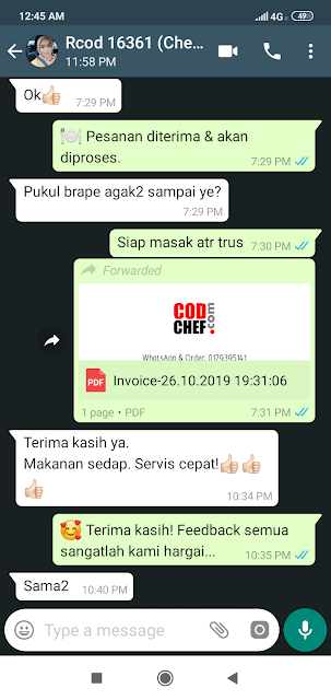 Servis Terbaik Food Delivery Kota Bharu #codchef