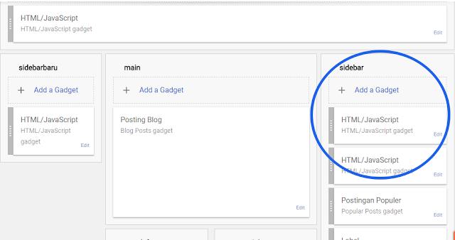 Membuat Memasang Menambahkan Space Banner 4 kotak Pada Sidebar Blog