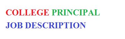 College Principal Job Description