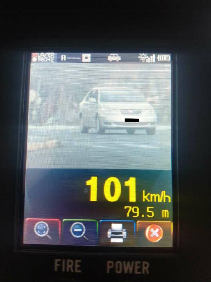 GRAVATAÍ | Corolla é flagrado acima dos 100 Km/h na Dorival de Oliveira