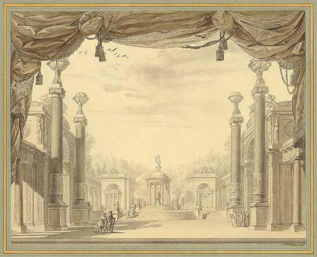 François-Joseph Bélanger: Set design for Gluck's Alceste in Paris