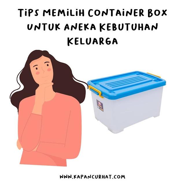 tips memilih container box