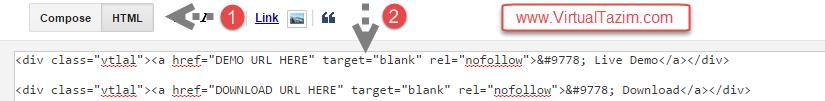 ব্লগে যোগ করে নিন CSS এবং HTML 5 এর লাইভ ডেমো অথবা ডাউনলোড বাটন