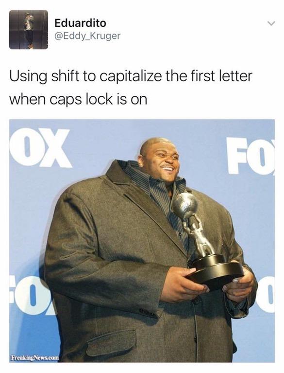 Capitalize Letter Caps Lock