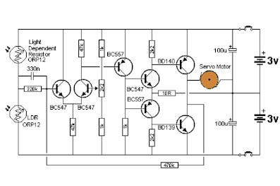 White line Flower Circuit Diagram