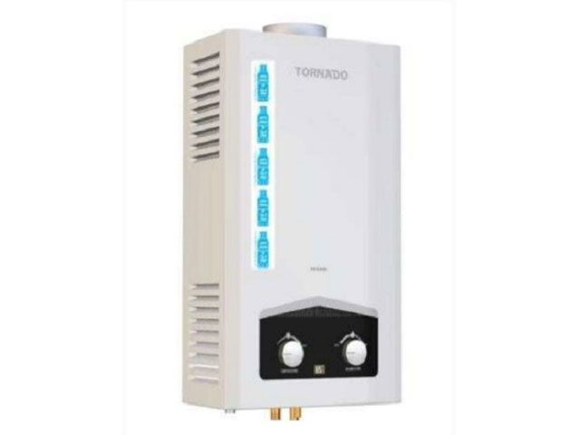 سخان تورنيدو غاز 10 لتر ديجيتال موديل GHM-C10BNE-W