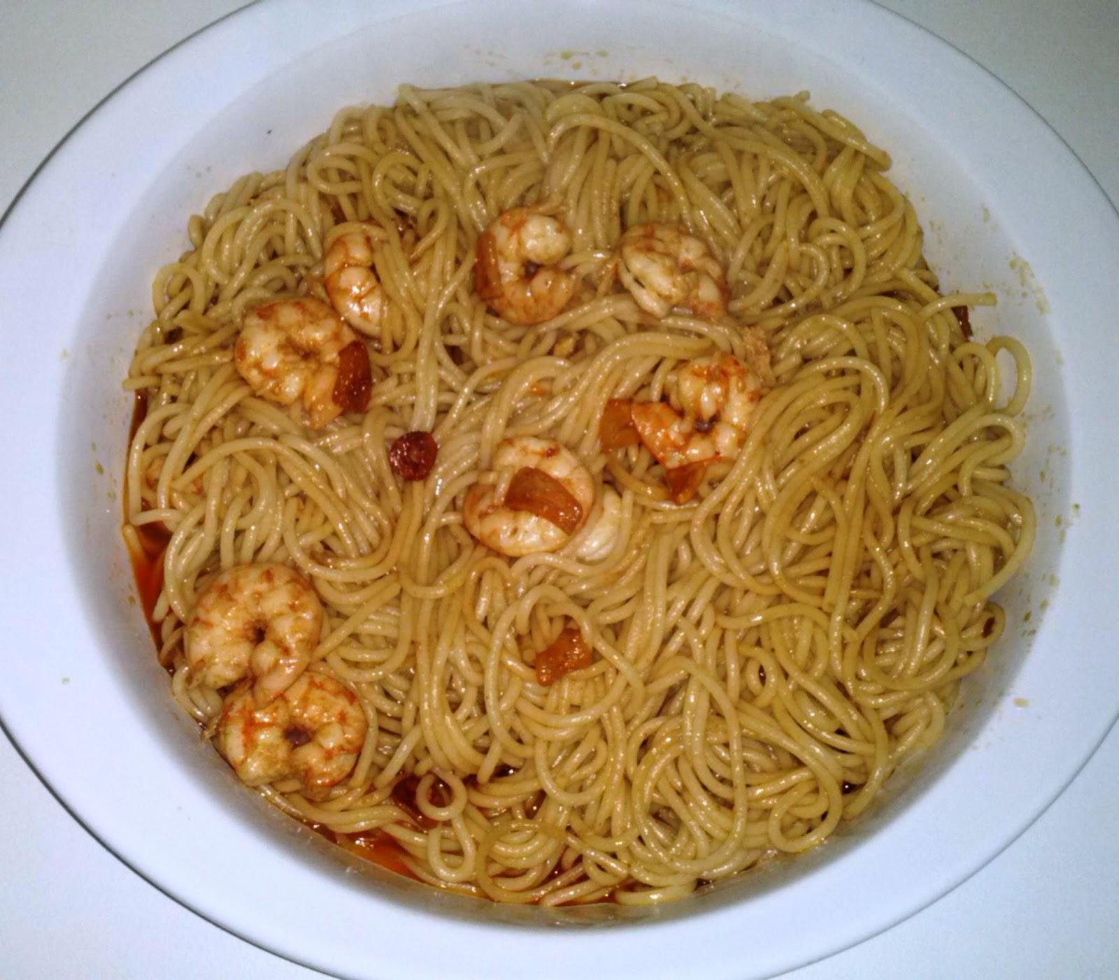 Colesterol Sin Fronteras Espaguetis Con Gambas Al Ajillo