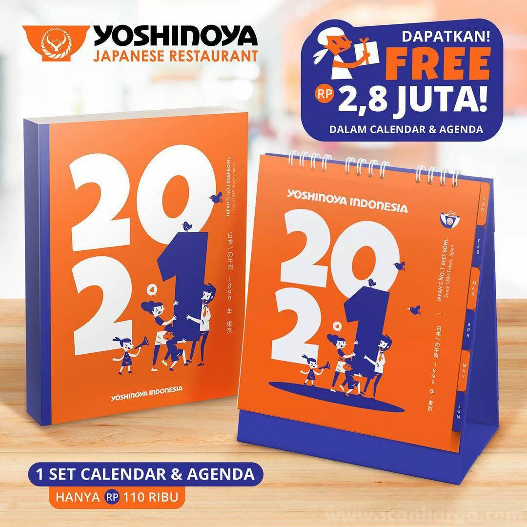 Calendar & Agenda Yoshinoya 2021 - GRATIS Promo Voucher senilai 2,8 Juta 2