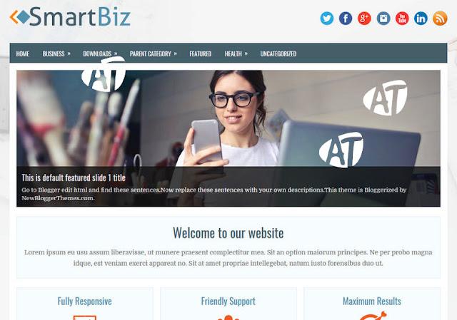 SmartBiz Blogger Template 2018
