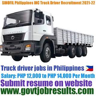 SINOFil Philippines INC Truck Driver Recruitment 2021-22