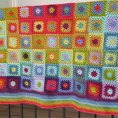My completed Attic24 'Aria' crochet blanket