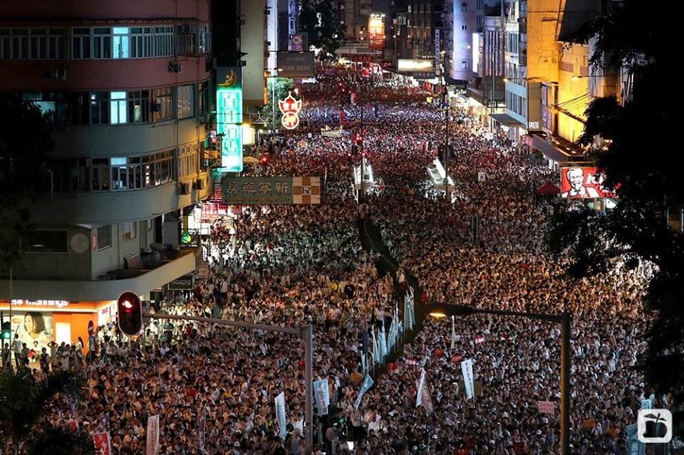 Lebih dari 1 juta Masyarakat Hong Kong Pawai Besar-Besaran untuk Protes terhadap RUU Ekstradisi Kontroversial