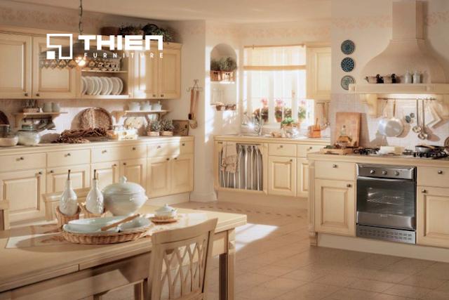 Những mẫu tủ bếp nổi bật cho biệt thự tân cổ điển - www.TAICHINH2A.COM