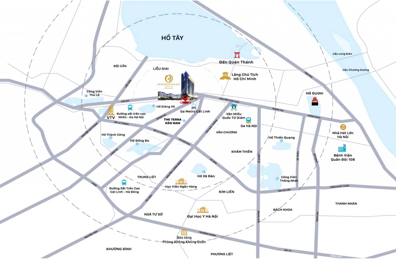 Maps dự án Grandeur Giảng Võ
