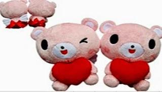Boneka beruang love 3