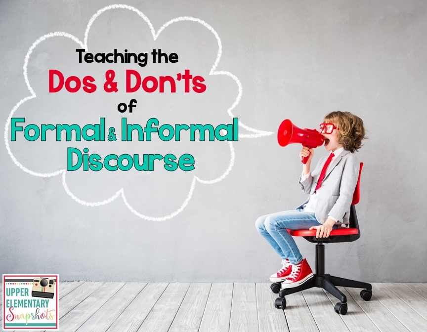 Teaching students the difference between formal and informal registers is important. Students need to apply this knowledge in a variety of speaking and writing situations. This blog post contains tips, freebies, and lesson ideas.