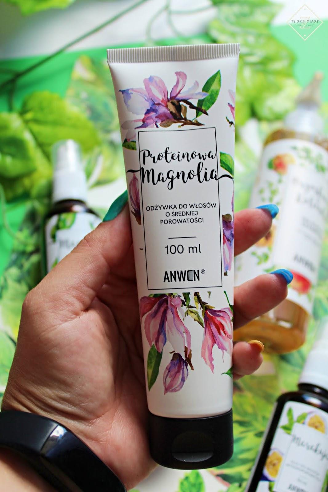 Anwen, odżywka do włosów o średniej porowatości, Proteinowa Magnolia