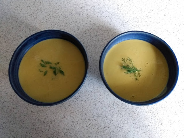 Potato and carrot soup from blender