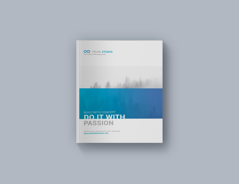 Free Hardcover Brochure Mockup