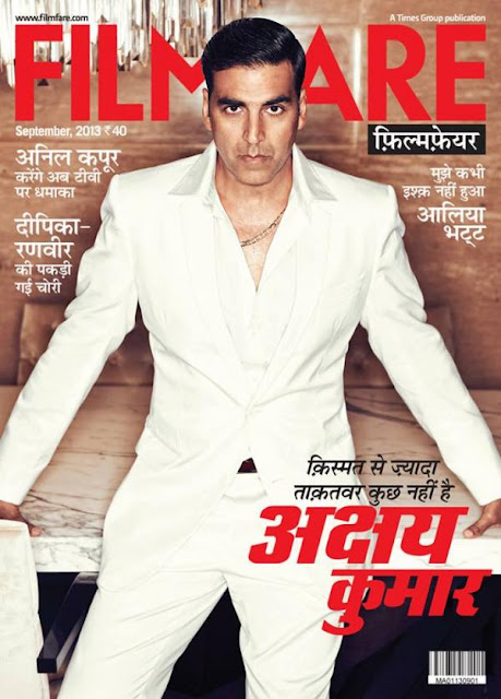 Kismat Se Jyada Takatavar Kuch Nahi Hain - Akshay Kumar on Cover of Filmfare Hindi