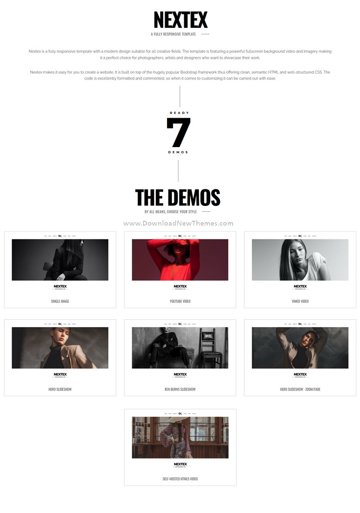 Best One Page Photography Portfolio Template